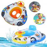 Børn Baby Oppustelig Pool Sæde Float Boat Svømning Wheel Horn Børn  & Babyudstyr