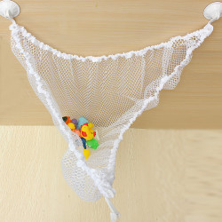 Kids Baby Toy Hammock Nylon Holder Elastic Storage Mesh Bag