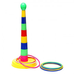 Kids Child Outdoor Plastic Ring Detachable Ring Toss Quoits Game Toy