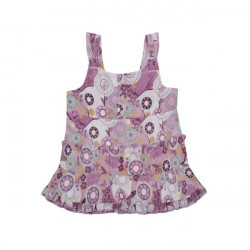 Kids Girls Summer New Cotton Flower Printing Strap Dress