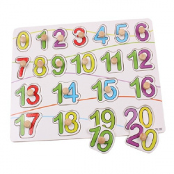 Knob Wooden Number Figure Cognitive Puzzle Kids Education Toy
