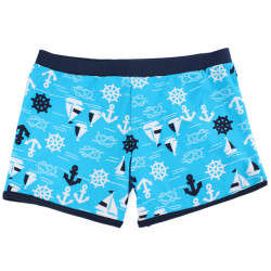 Light Blue Baby Boys Swimming Trunks Ocean Style Swimwear