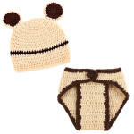 Lovely Animal Beige Bear Design Nursling Babies Photography Props Suits Baby & Mother Care