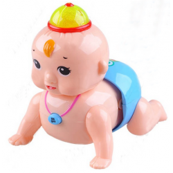 Lovely Electric Crawling Baby With Sound And Light Cap Toy