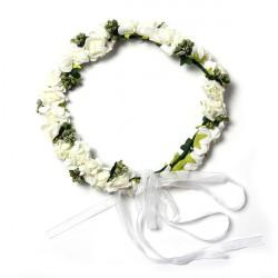 Dejlig Skum Blomst Bryllup Blomst Pige Krans Medaljon