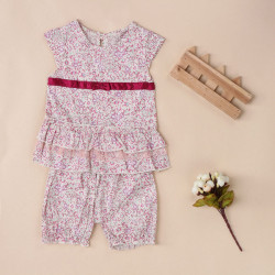 Lovely Kid Baby Girls Summer Flower Sets Outfits Top+Pant