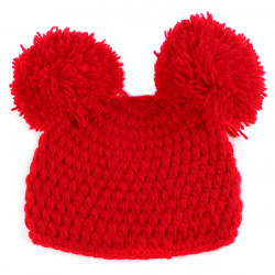 Lovely Red Pompon Design Nursling Babies Photography Props Hats Caps