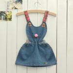 Lovely Toddler Girl's One Piece Jeans Denim Dress Cartoon Skirt Baby & Mother Care