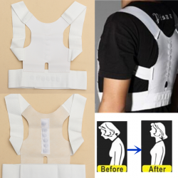 Magnet Therapy Posture Shoulder Corrector Back Support Brace Belt