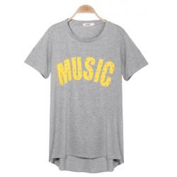 Umstandsmode Mode Sommer losen großen Yards Hemd mit kurzen Ärmeln