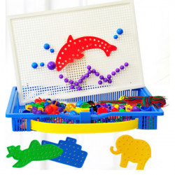 Mushroom Nails Puzzle Pegboard Game Child Educational Toy