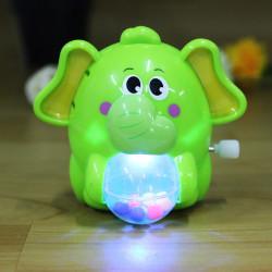 Music Light Elephant Toys Clockwork Chain Animal Educational Gifts