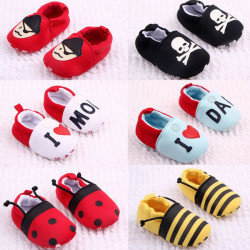 Newborn Baby Kids Toddler Anti-lost Elastic Soft Soled Shoes