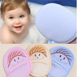 Newborn Children Baby Bath Rub Cotton Shower Sponge