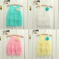 Newborn Toddlers Baby Girls Summer Layered Dress