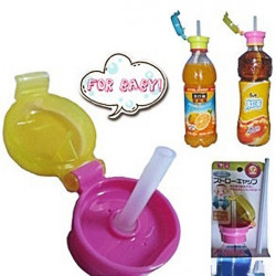 Portable Baby Bottle Straw Cover Drinking Replacement Cap