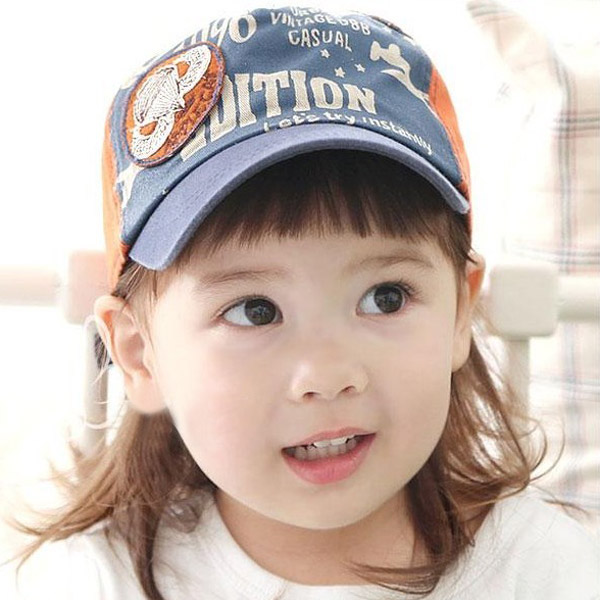Small Plane Pattern Children Letters Cartoon Kids Baseball Cap Baby & Mother Care