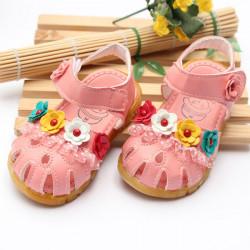 Sommer Baby Piger Børns Børn Lace Blomster Sandaler Sko