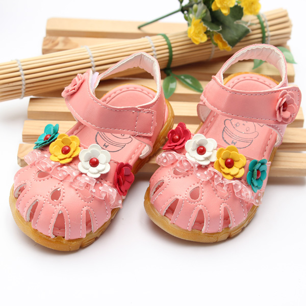 Summer Baby Girls Toddlers Kids Children Lace Flowers Sandals Shoes Baby & Mother Care