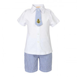 Sommer Drenge Clothing Set Børn Solid T-shirt + Shorts Sets