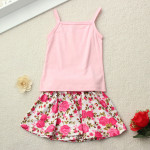 Summer Toddler Baby Girl T Shirt Solid Vest+Flower Skirt Outfits Baby Kinder & Mutterpflege