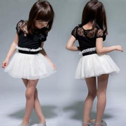 Toddler Flower Dress Pageant Princess Skirt Tutu Party Mini 2-7Y