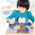 Trä Magnetisk Maze Pedagogisk Utveckling Leksaker Barnprodukter
