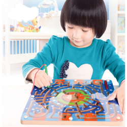 Wooden Magnetic Maze Educational Development Toys