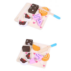 Wooden Vegetables Dessert Kids Fruits Slice Puzzles Toys