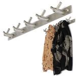 10 Krokar Badrum rostfritt stål väggfäste Hooks handdukshängare