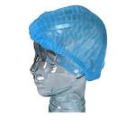 10PCS Disposable Blue Cap Protect Hair Cover Nonwovens Caps Bathroom