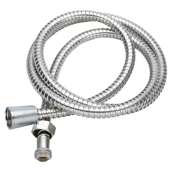 1.5m Flexible Stainless Steel Chrome Shower Head Bathroom Water Hose Bathroom