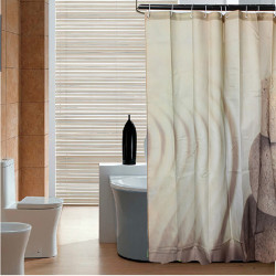 180x200cm Desert Stone Bathroom Waterproof Fabric Shower Curtain