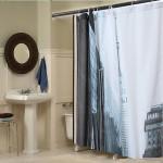 180x200cm Street Pattern Picture Bathroom Fabric Bath Shower Curtain Bathroom
