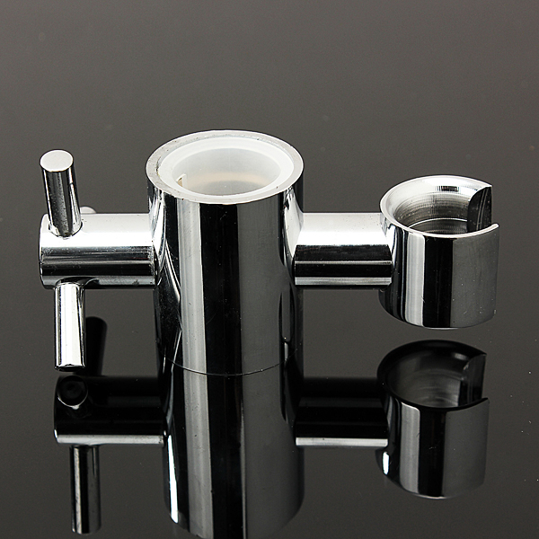 25mm Copper Shower Head Slider Rail Bar Holder Adjustable Bracket Bathroom