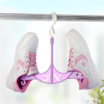 2pcs Multifunction Drying Rack Shoes Bra Underwear Rotating Hanger Bathroom
