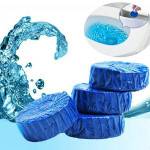 2pcs Toilet Automatic Detergent Blue Bubble Closestool Cleaner Bathroom