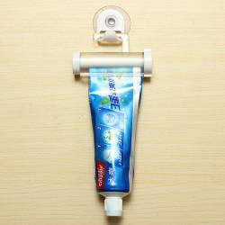 2stk Hvid Rolling Tandpasta Squeezer Tandpasta Rør Sucker Dispenser