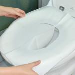 30st Engångs Toalett Matta Antibakteriell Vattentät Placerar Täcker Papper Badrum