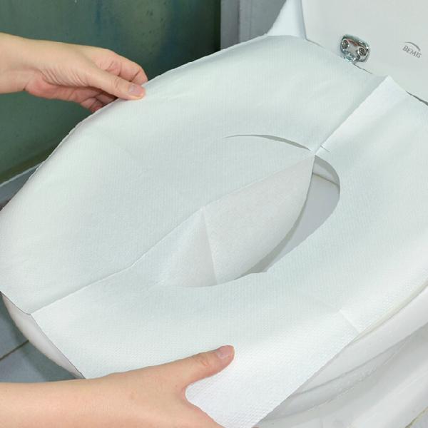30pcs Disposable Toilet Mat Antibacterial Waterproof Seat Cover Paper Bathroom