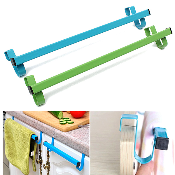 34cm Space-saving Door Drawer Towel Hanger Bathroom Clothes Holder Bathroom