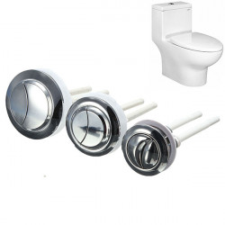 38/48/58mm ABS Double Dual Flush Toilet Water Tank Push Button