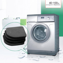 4pcs Washing Machine Anti-shock Pads Silence Cotton Non-slip Mat