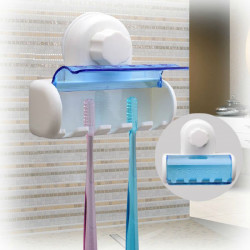 5 Set Home Bathroom Toothbrush SpinBrush Suction Holder