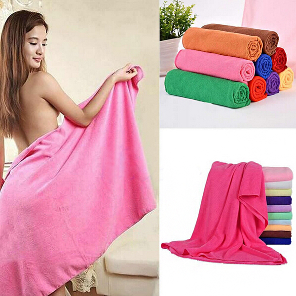 70*140cm Absorbent Microfiber Bath Towel Beach Quick Dry Washcloth Bathroom