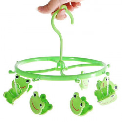 8pcs Cute Cartoon Frog Plastic Clothes Peg Clip Hanger