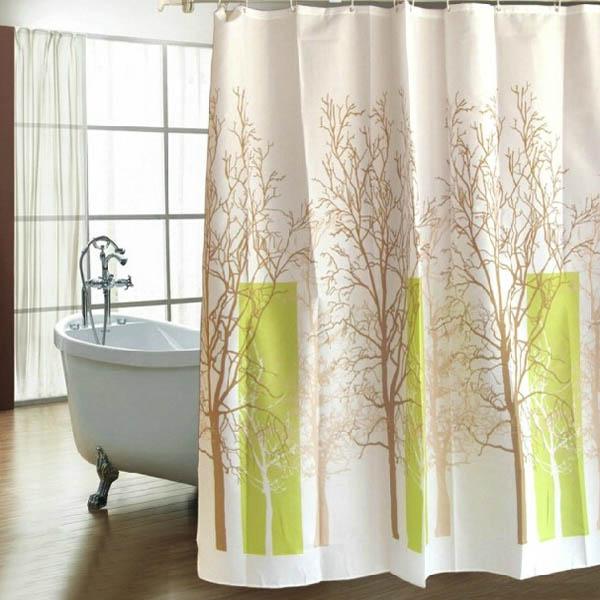Badrum Sky Träd Vattentät Polyester Tjockare Duschförhänge Badrum
