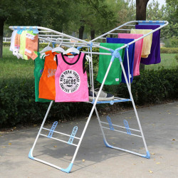 Butterfly Floor Collapsible Folding Drying Rack Clothes Shoes Hanger