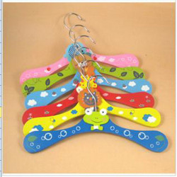 Children Wooden Hangers Baby Cartoon Wood Hangers