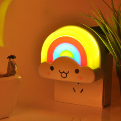 Colorful Rainbow LED Sound Light-controlled Bathroom Night Light